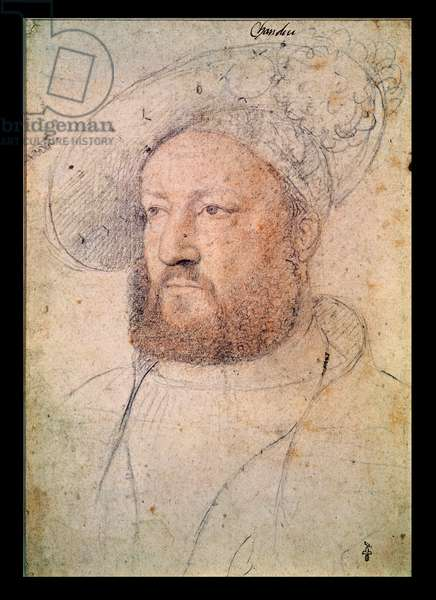 Louis de Chandio (1480-1532) Lord of Bussy, c.1520 (red chalk on paper)