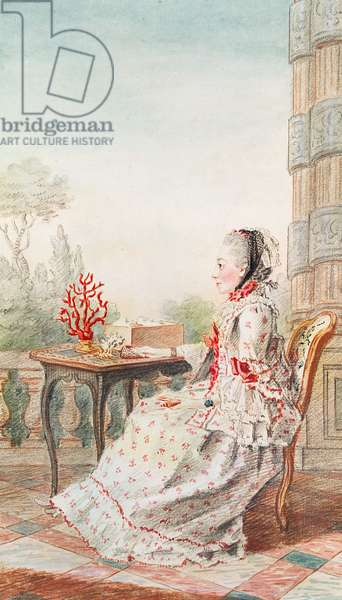 Madame d'Azincourt, 1760 (pencil, w/c & gouache on paper)