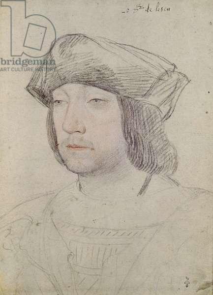 Odet de Foix (1485-1528) Seigneur de Lautrec, c.1526 (pencil on paper)