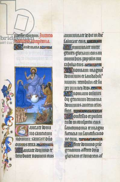 Ms 65/1284 fol.34r Christ Judging the World, from the Tres Riches Heures du Duc de Berry, early 15th century (vellum)