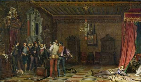 The Assassination of Henri (1549-88) de Lorraine, Duc de Guise, 1834 (oil on canvas)