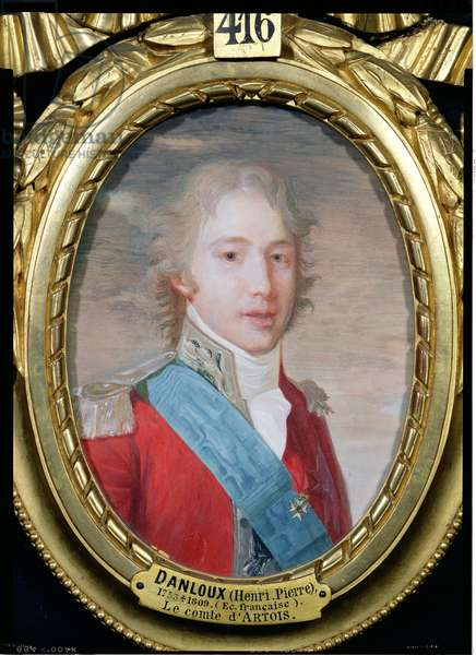 Portrait of Charles of France (1757-1836) (gouache & w/c on paper)