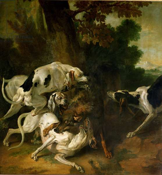 Wolf Hunt (oil on canvas)