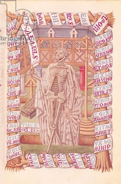 Ms 74/1088 fol.90 The Final End, from the 'Heures de Marguerite de Coetivy' (vellum)