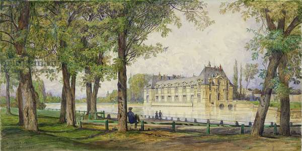 View of the Petit Chateau de Chantilly, 1857 (w/c on paper)