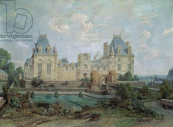 Chateau d'Ecouen (oil on canvas)