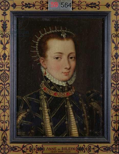 Anne Boleyn (1507-36) (oil on panel)