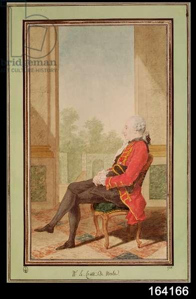 Le Comte de Merles, Charles Louis de Merles de Beauchamp, 1768 (w/c on paper)