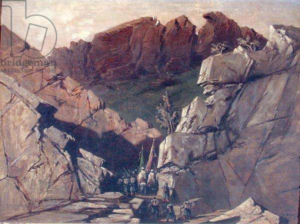 Expedition to the Portes der Fer, Algeria, in 1839 (oil on canvas)