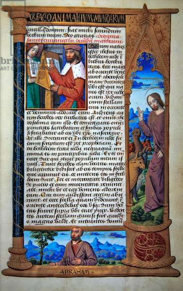 Ms 72/1119, Text of the Adoration of the Magi according to St. Matthew, from a French Horae (vellum)