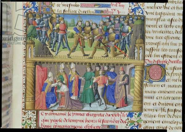 Ms 722/1196 fol.146 r Henry II (1133-89) (vellum)