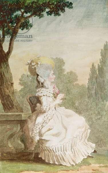 La Marquise Charles du Crest (pencil, w/c & gouache on paper)