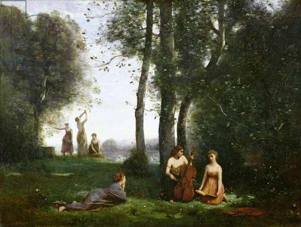 Le Concert Champetre, c.1857-58 (oil on canvas)