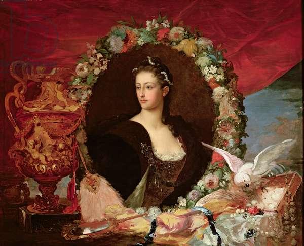 Francisca Caroline de Braganca (1824-98) Princess of Joinville, after 1843 (oil on canvas)
