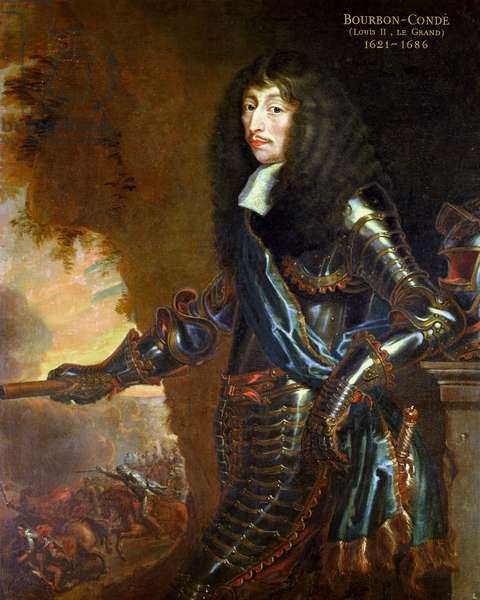 Louis II (1621-86) de Bourbon, 1654-58 (oil on canvas)