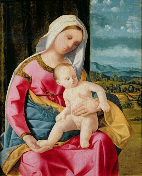 The Virgin and Child (oil on panel)