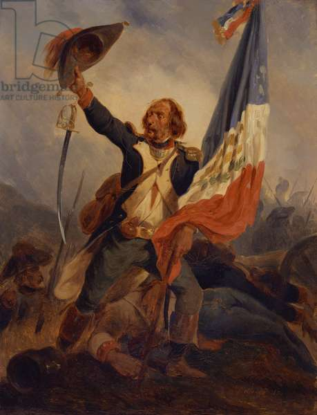 A Standard Bearer of the Republic, 1848 (oil on canvas)