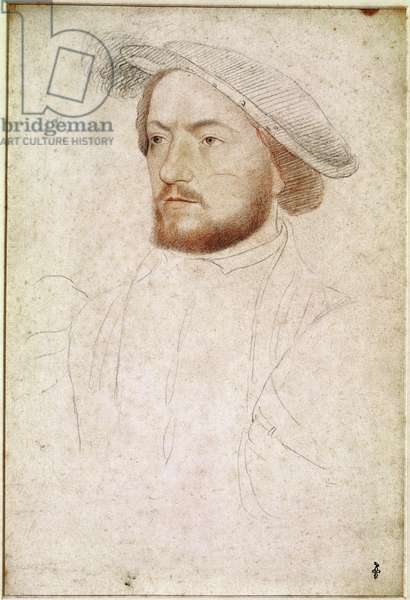 Francois de Rohan (1515-60) Seigneur de Gie, c.1540 (pencil on paper)