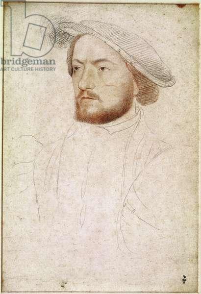 Francois de Rohan (1515-60) Seigneur de Gie, c.1540 (pencil on paper)