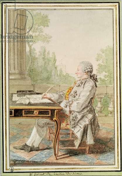 Alexis Claude Clairaut (1713-65) (pencil, w/c & gouache on paper)