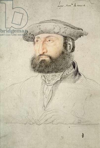 Louis de Cleves (1495-1545) Comte de Nevers, 1530 (pencil on paper)