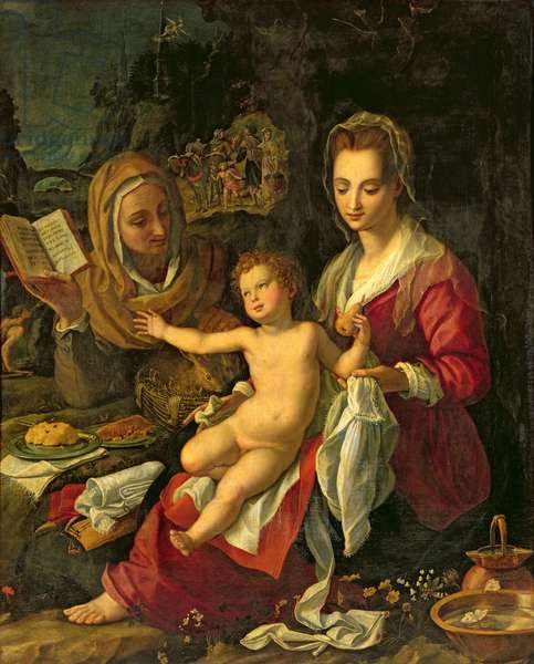 Virgin and Child with St. Elizabeth, 1603 (oil on canvas)