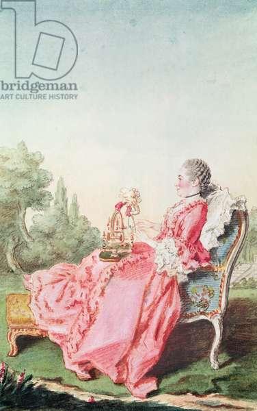 La Comtesse de Noe (pencil, watercolour and gouache on paper) 1760
