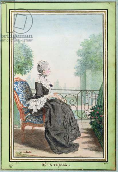 Mademoiselle de Lespinasse (1732-76) 1760 (w/c on paper)