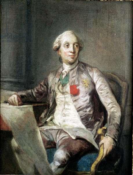 Study for a Portrait of Charles-Claude de Flahaut de la Billarderie (1730-1809) Count of Angiviller, 1779 (oil on canvas)