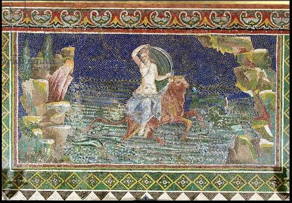 Rape of Europa, from Herculaneum (mosaic)