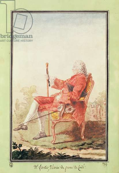Monsieur Frontier, Treasurer to the Duke of Orleans, 1759 (pencil, w/c, gouache & red chalk on paper)