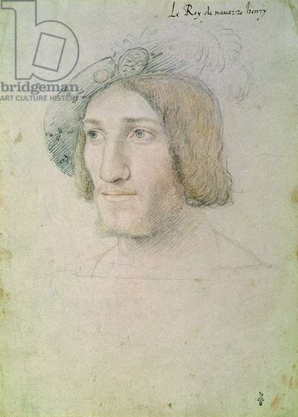 Henry II of Albret, King of Navarre (1503-1555), c.1530 (pencil, sanguine and crayon on paper)
