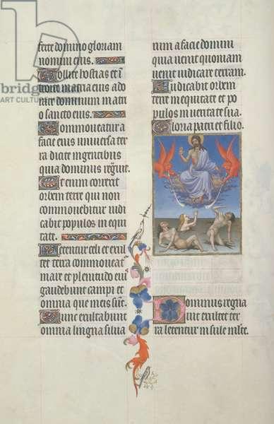 Ms 65/1284 fol.34 Resurrection of the Dead, from the Très Riches Heures du Duc de Berry (vellum)