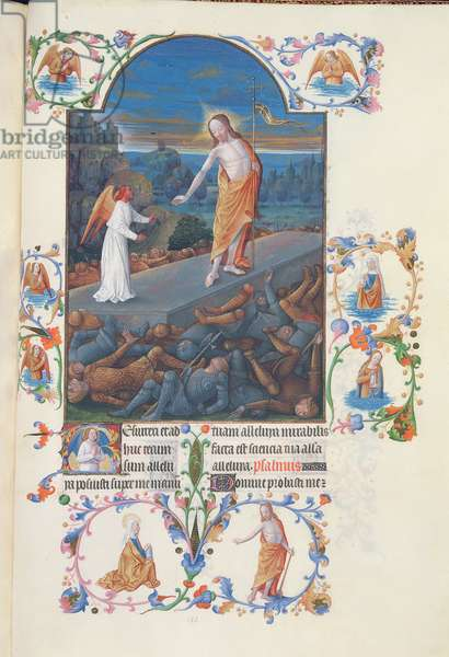 Ms 65/1284 fol.182r The Resurrection of Christ, from the 'Tres Riches Heures du Duc de Berry' (vellum)