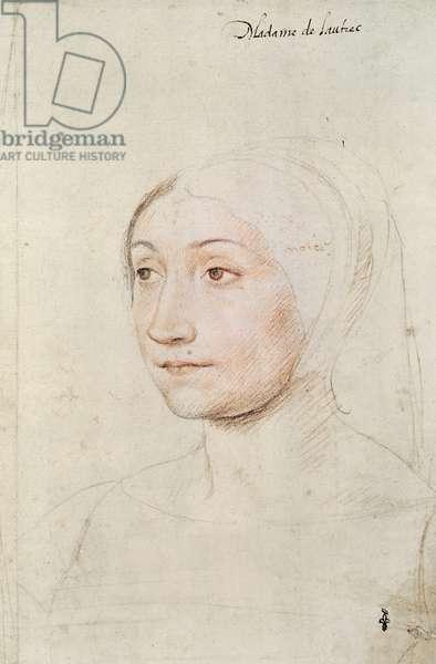 Jeanne de Crussol (c.1490-1545) c.1525 (red chalk on paper)