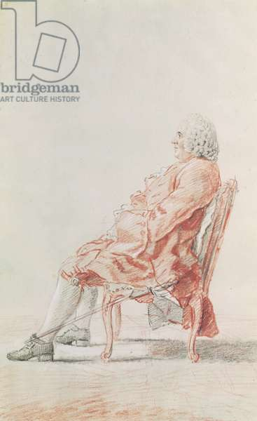 Monsieur Fournier (pencil, watercolour, and red chalk on paper) 1758