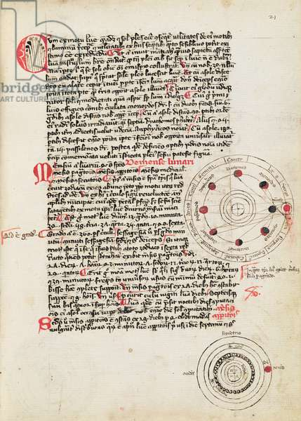 Ms 322/641 fol.21r Page from a treatise on astronomy and astrology (vellum)