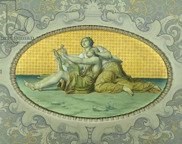 Music, from the Galerie de Peinture, 1859 (mural)