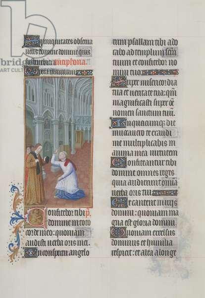 ms. 65/1284 fol. 84r, Illustration of Psalm 137, from 'Très Riches Heures du Duc de Berry' (vellum)