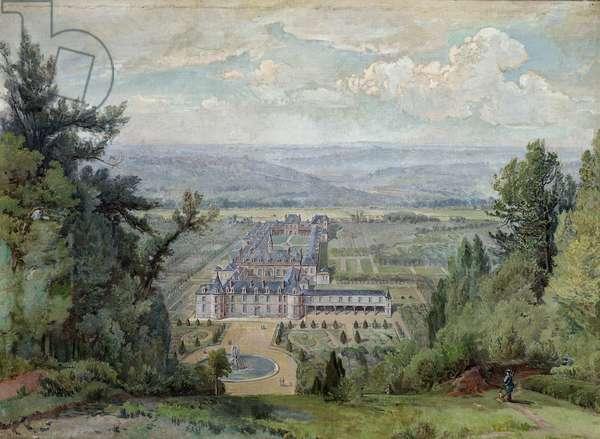 Chateau de Villers-Cotterets (oil on canvas)