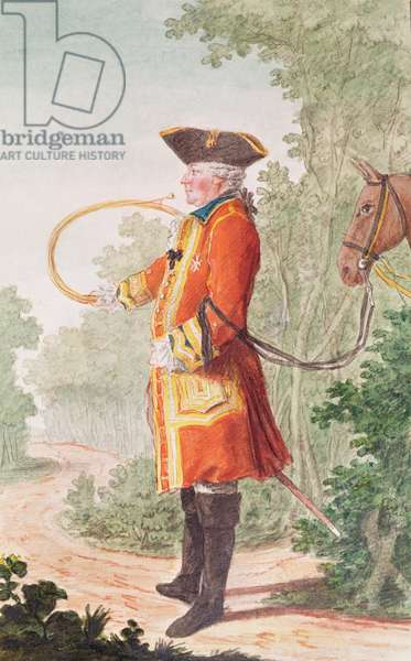 Bailli of Champignelles, huntsman to the Duke of Orleans in Hunting Costume, 1764 (pencil, w/c & gouache on paper)