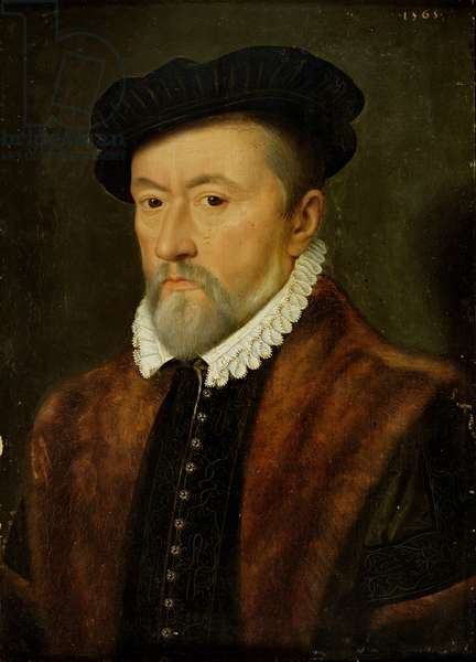 Gaspard II de Coligny (1519-72) Admiral of France (oil on panel)