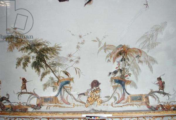 The Boar Hunt, detail from the ceiling of 'La Grande Singerie', c.1735 (mural)