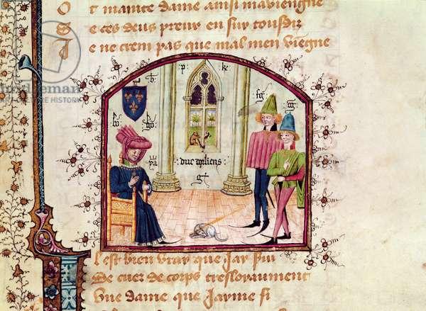 Ms 491/1680 Louis de France (1372-1407) Duc d'Orleans, from 'Livre des Cent Ballades' by Jean Le Seneschal (vellum)