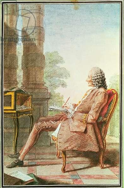 Jean-Philippe Rameau (1683-1764) 1760 (w/c on paper)