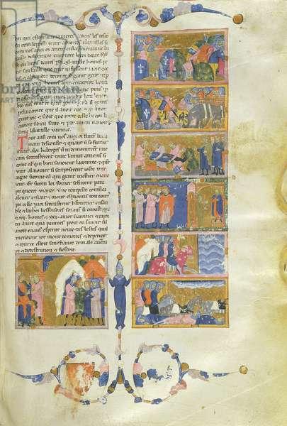 Ms 726/493 fol.109r War between Pyrrhus of Epirus and Rome (vellum)