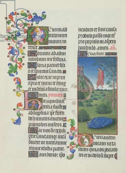 Ms. 65/1284 fol. 147v Judas hanging, from 'Très Riches Heures du Duc de Berry' (vellum)