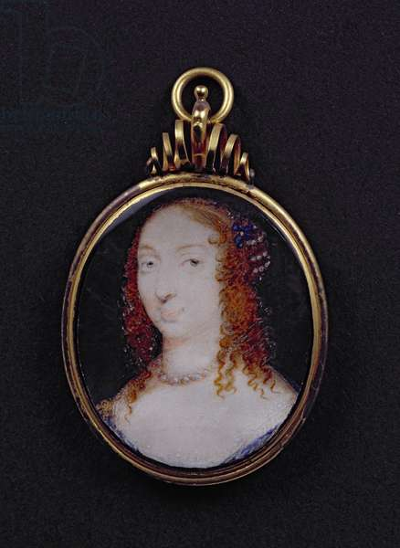 Portrait medallion of Marie de Hautefort (1616-91), Duchesse d'Halluin