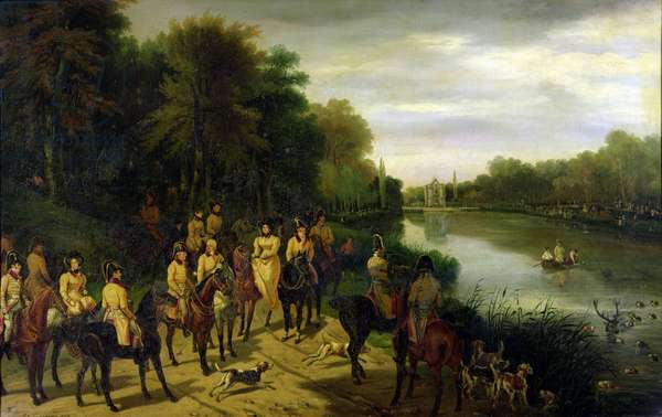The Hunt at the Ponds, 1829 (oil on canvas)