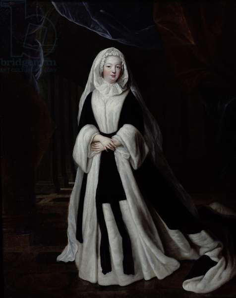 Portrait of Louise-Francoise de Bourbon (1673-1743) in Mourning Clothes, 1710 (oil on canvas)